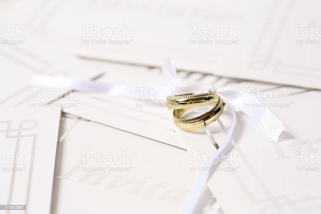 Newlywed isolated royalty-free stock photo