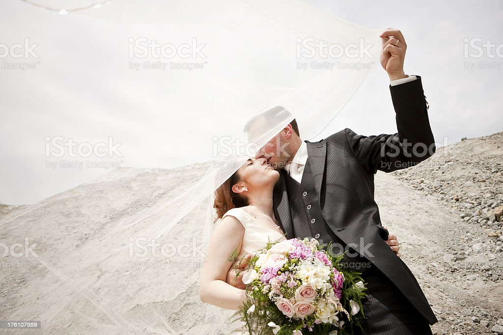 Newlywed royalty-free stock photo