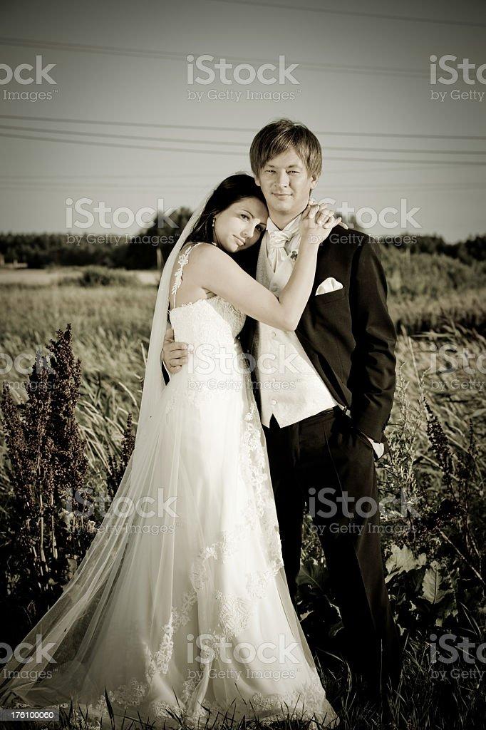 Newlyweds royalty-free stock photo
