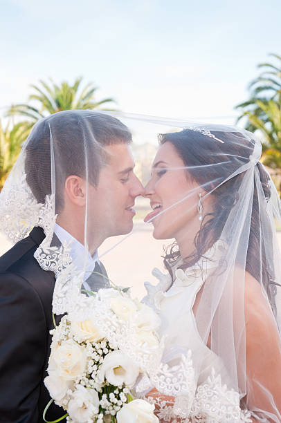 Couple Tongue Kissing Stock Photos, Pictures & Royalty
