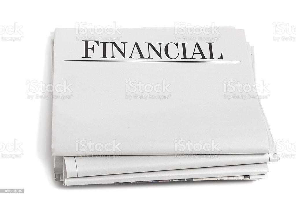 Newpaper Headlines Financial royalty-free stock photo