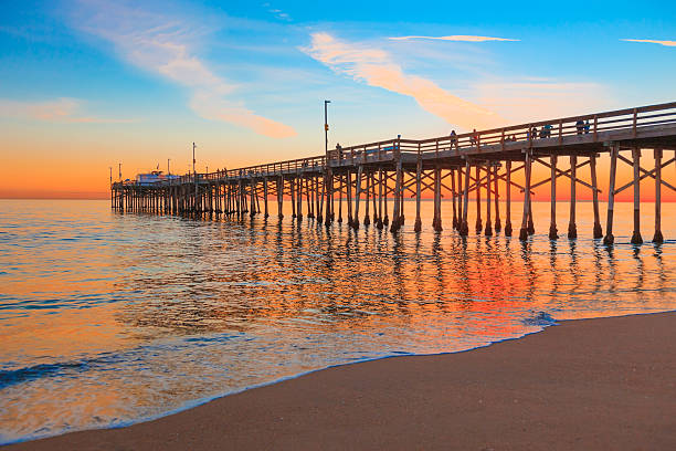 Newport Beach Balboa Pier, RTE 1,Orange County California stock photo