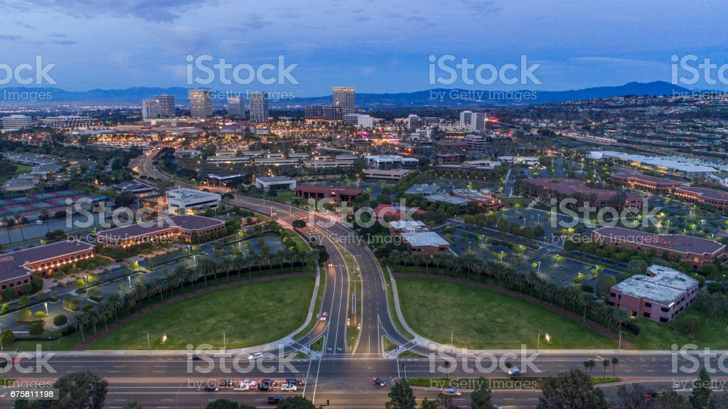 Newport Beach Skyline, Orange County stock photo