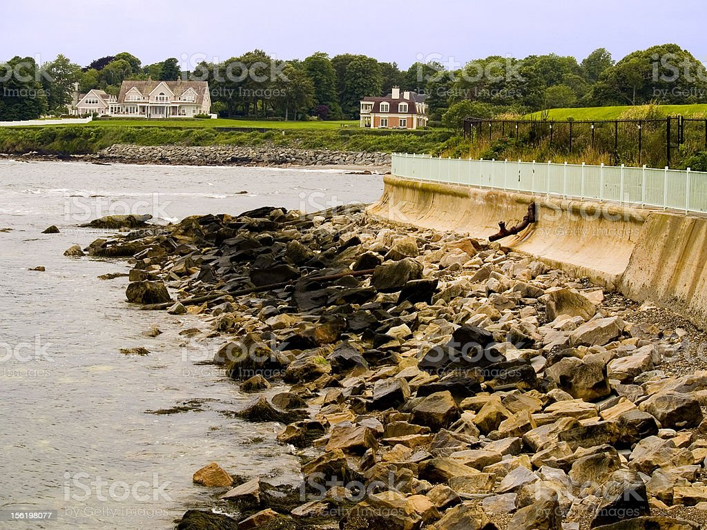 Newport Cliff Walk royalty-free stock photo