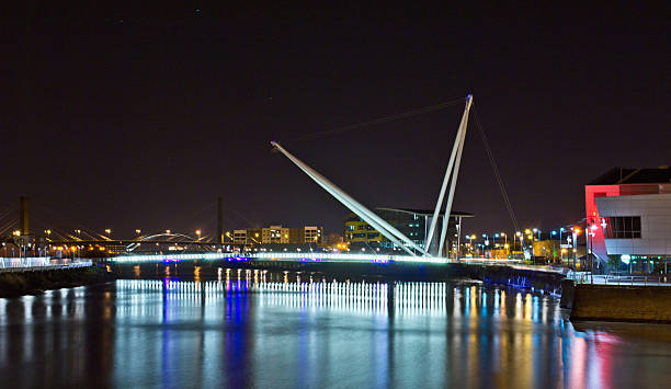newport gwent look off Newport bridge down the river wales stock pictures, royalty-free photos & images