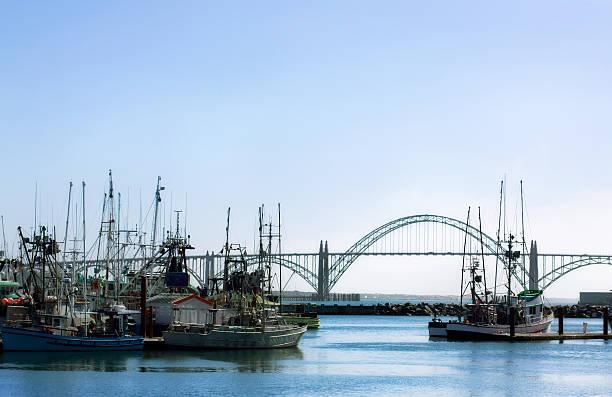 Newport Harbor - Oregon stock photo