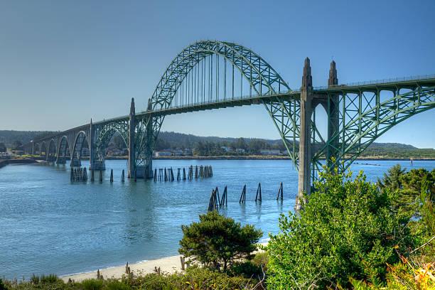 Newport Oregon Bridge stock photo