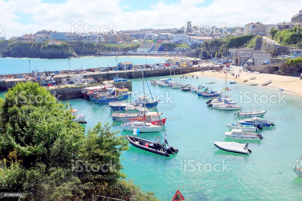 Newquay, Cornwall. stock photo