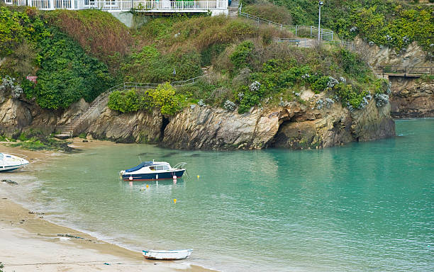 newquay harbour - cornwall stock pictures, royalty-free photos & images