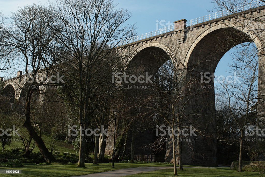 Newquay Trenance Railway Viaduct royalty-free stock photo