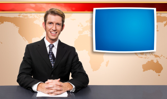 News Anchor Stock Photo - Download Image Now