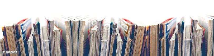 Magazines and books background