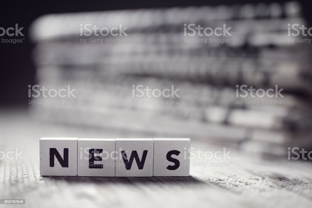 News and newspaper headlines stock photo