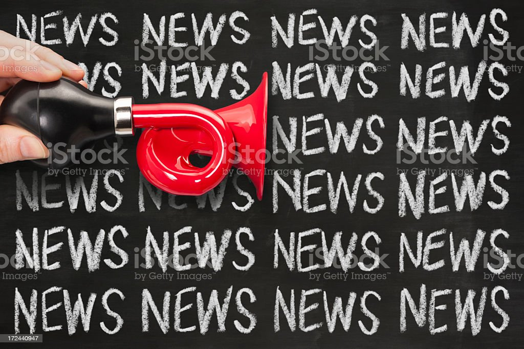 News Announcement royalty-free stock photo