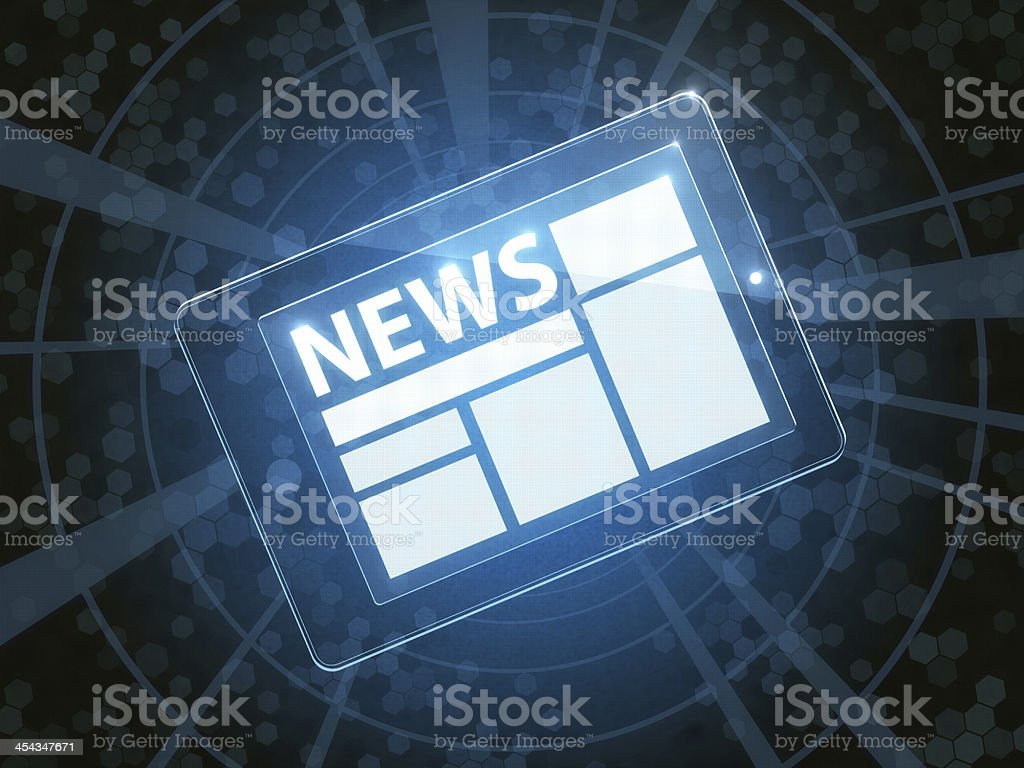 News Application royalty-free stock photo