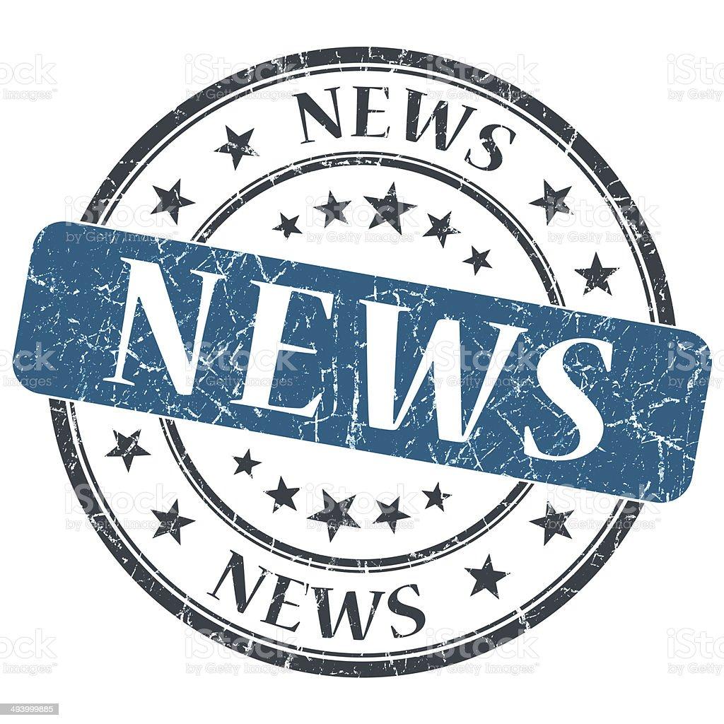 News blue grunge round stamp on white background royalty-free stock photo