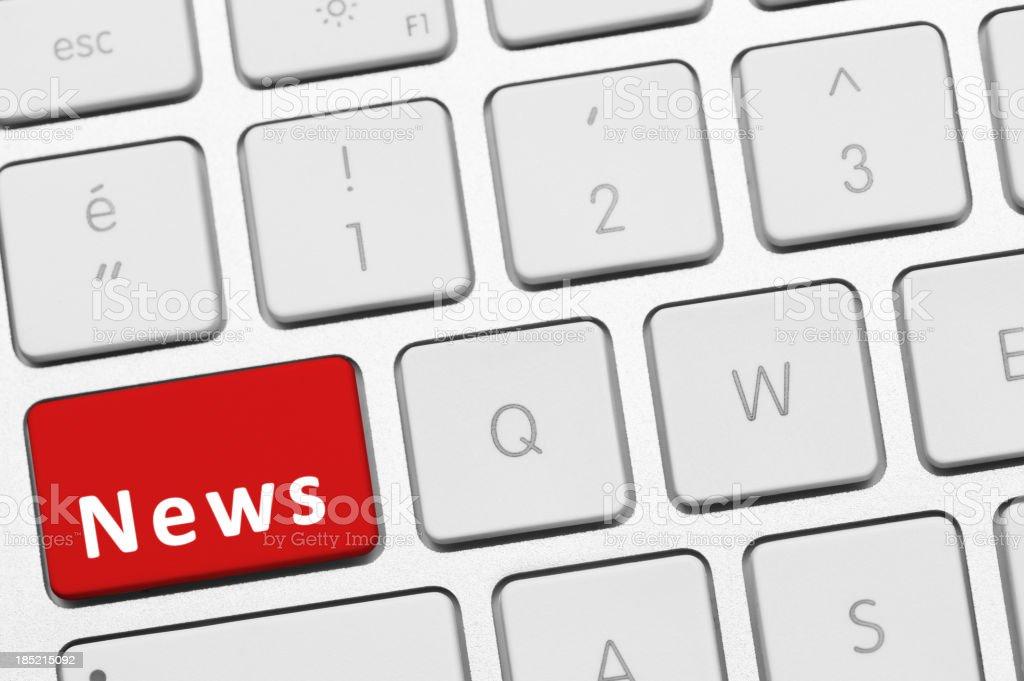 News button on keyboard stock photo