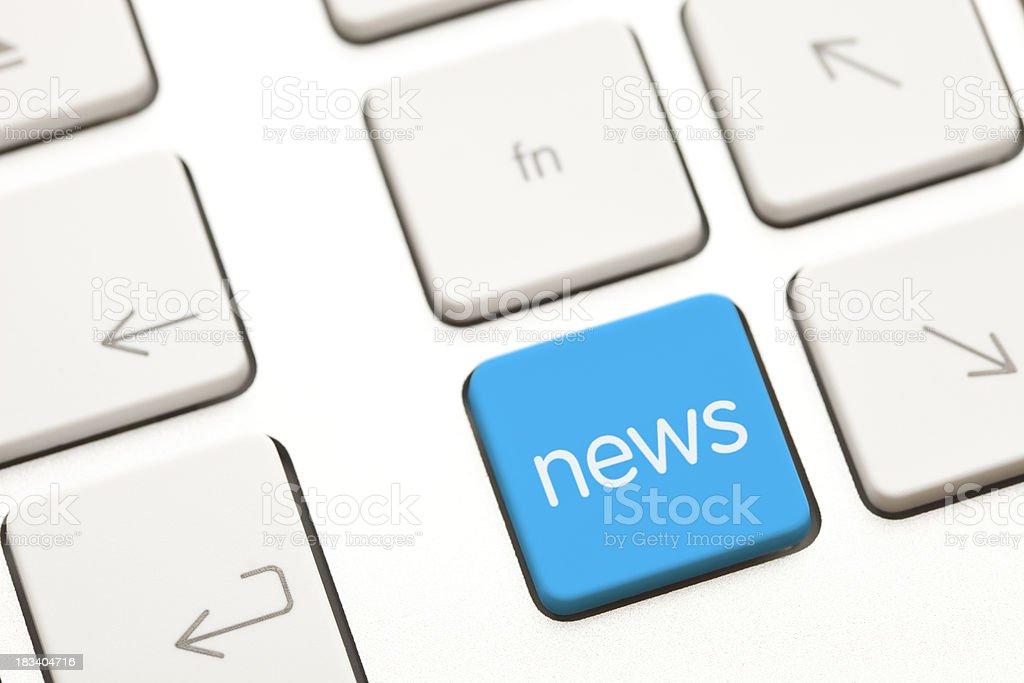 News computer key royalty-free stock photo
