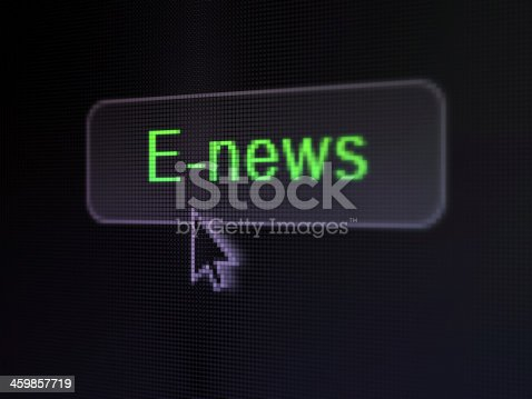 istock News concept: E-news on digital button background 459857719
