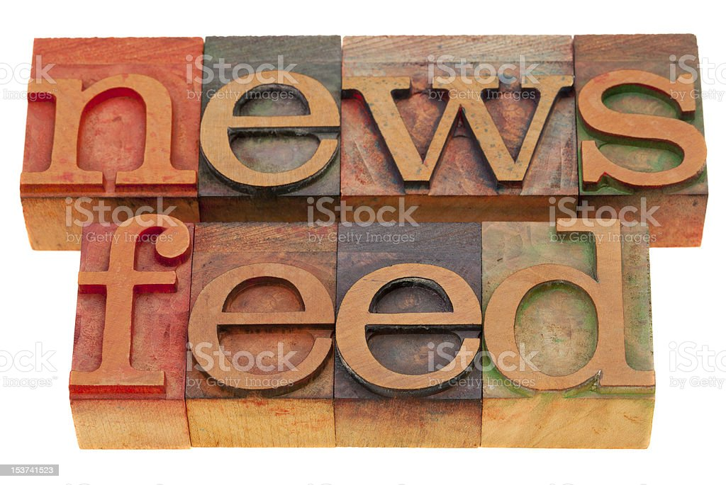 news feed stock photo