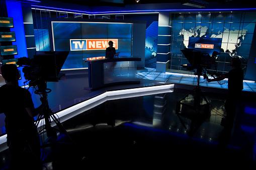 News filming studio