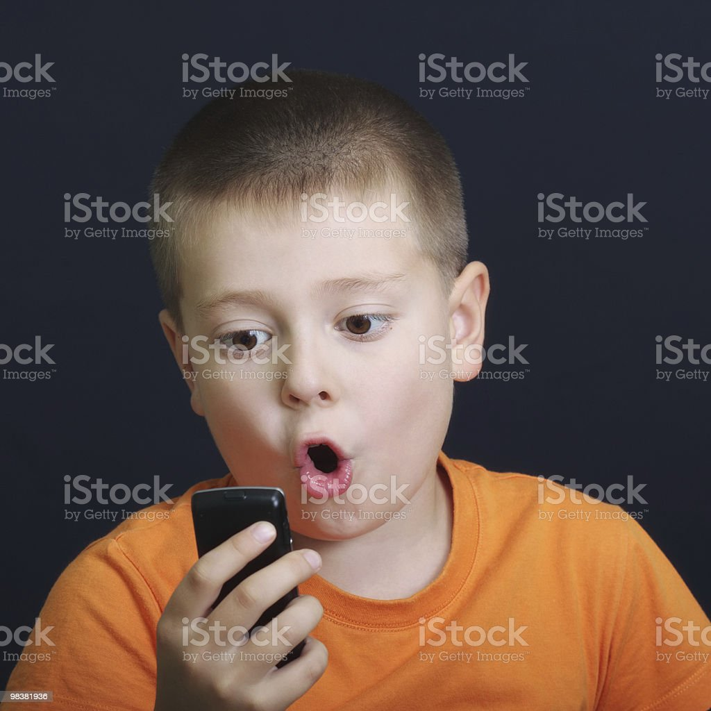 News from cellphone royalty-free stock photo