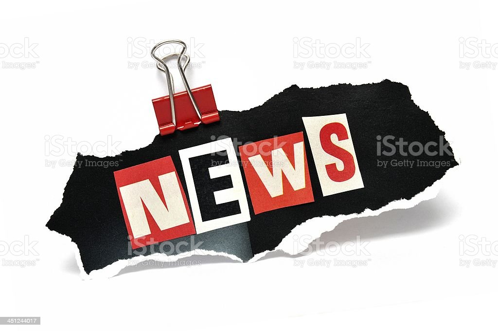 News in paper clip royalty-free stock photo