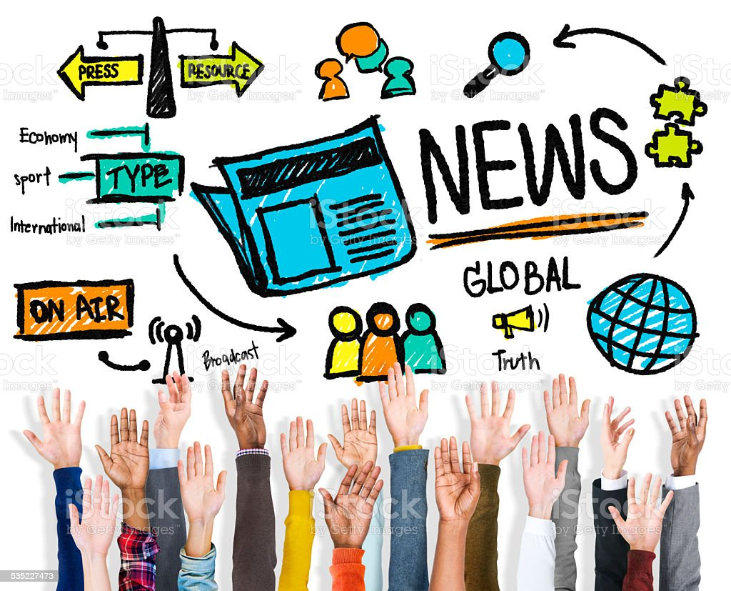 News Journalism Information Publication Update Media stock photo