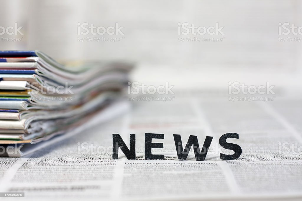 News letters on newspapers royalty-free stock photo