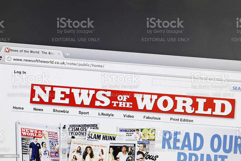 News of the world royalty-free stock photo