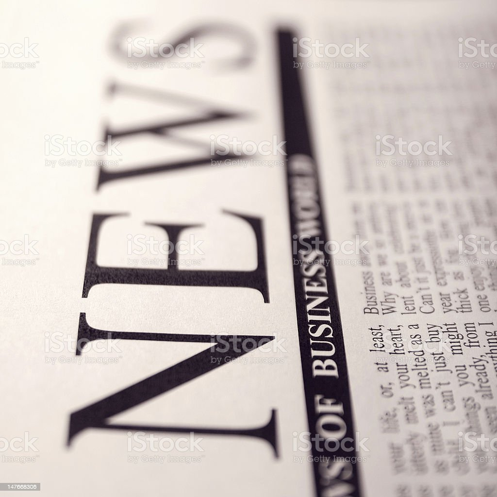 news on a newspaper royalty-free stock photo