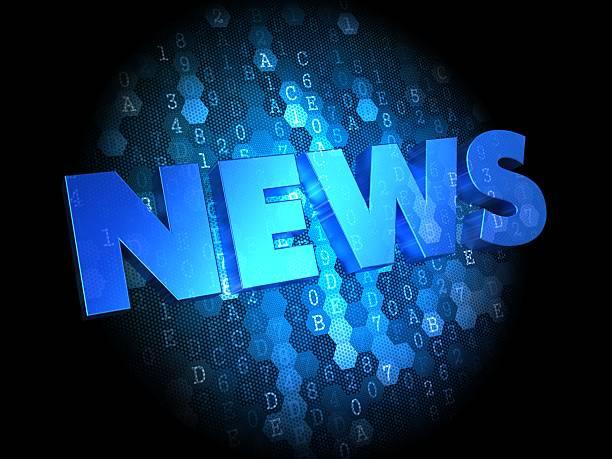 news on dark digital background. - paper mass bildbanksfoton och bilder