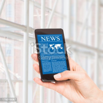 istock News on mobile phone, smartphone. 179319067