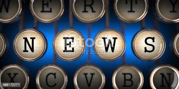 istock News on Old Typewriter's Keys. 466172271