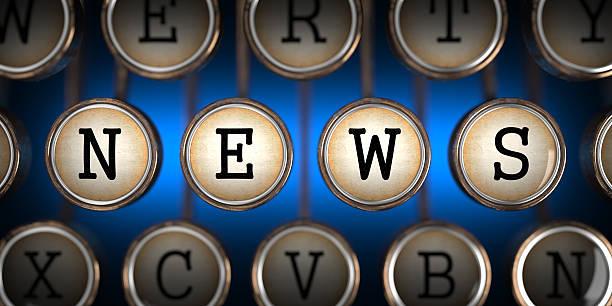 Nachrichten auf alten Schreibmaschine der Schlüssel. – Foto