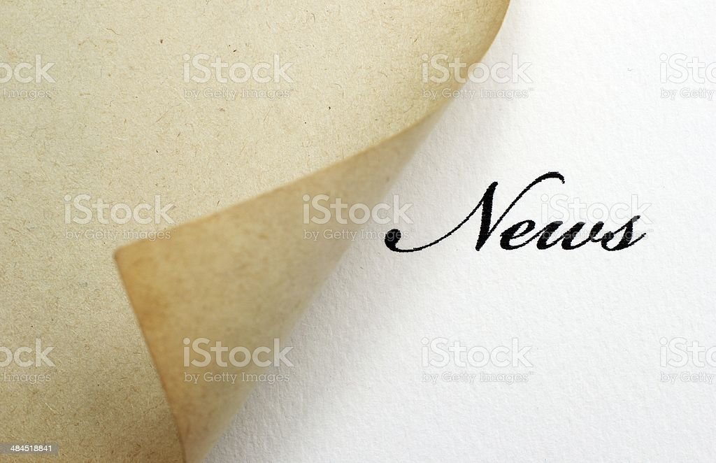 News on paper stock photo