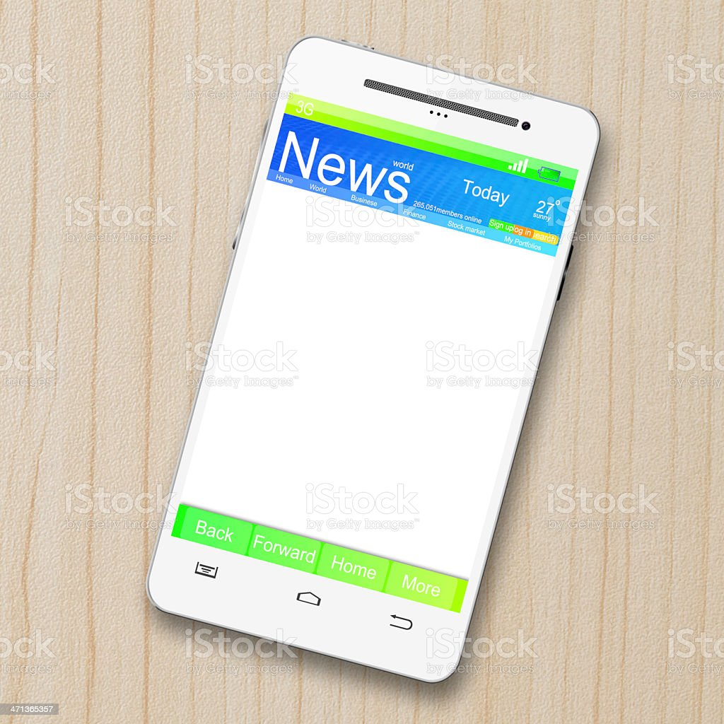 news on smart phone royalty-free stock photo