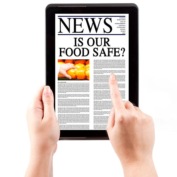 news on tablet computer - food safety - fda stock photos and pictures
