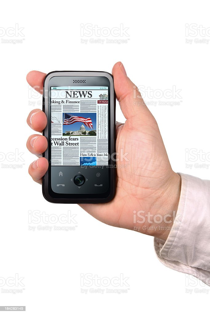 News on the Phone royalty-free stock photo