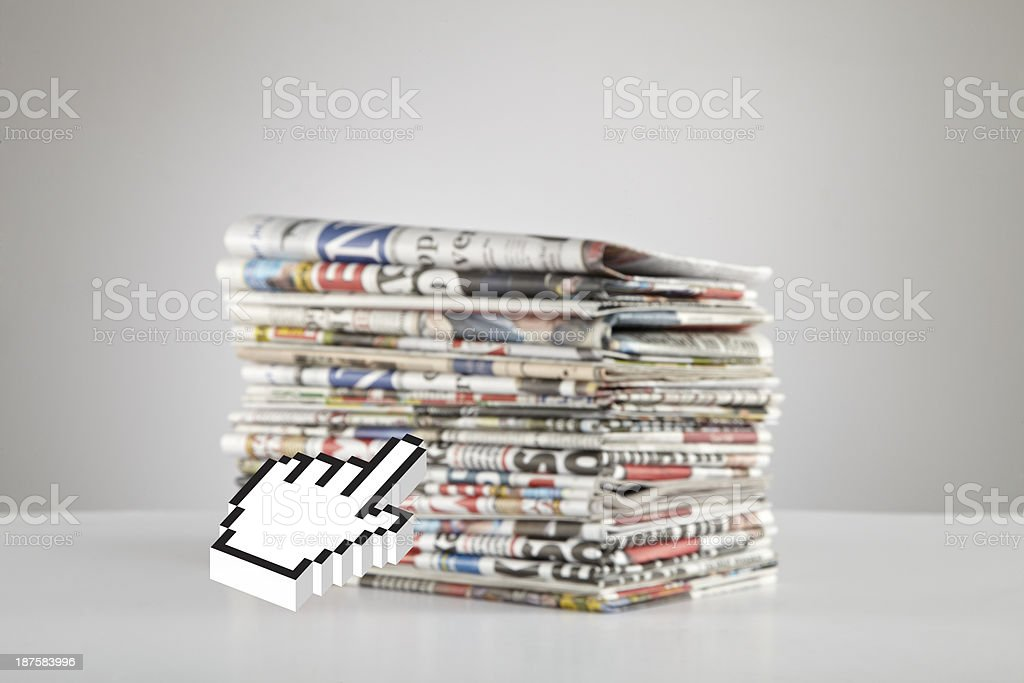 News Online royalty-free stock photo