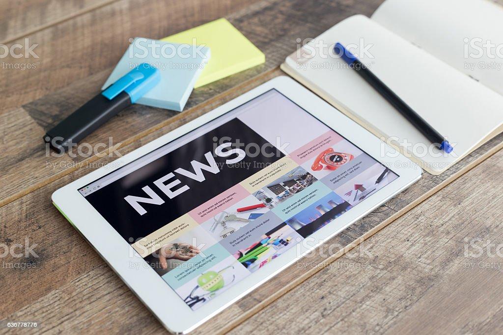 News Online stock photo