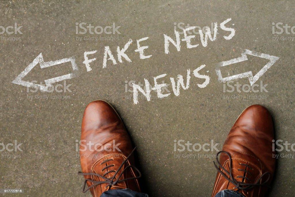 News or Fake News? stock photo