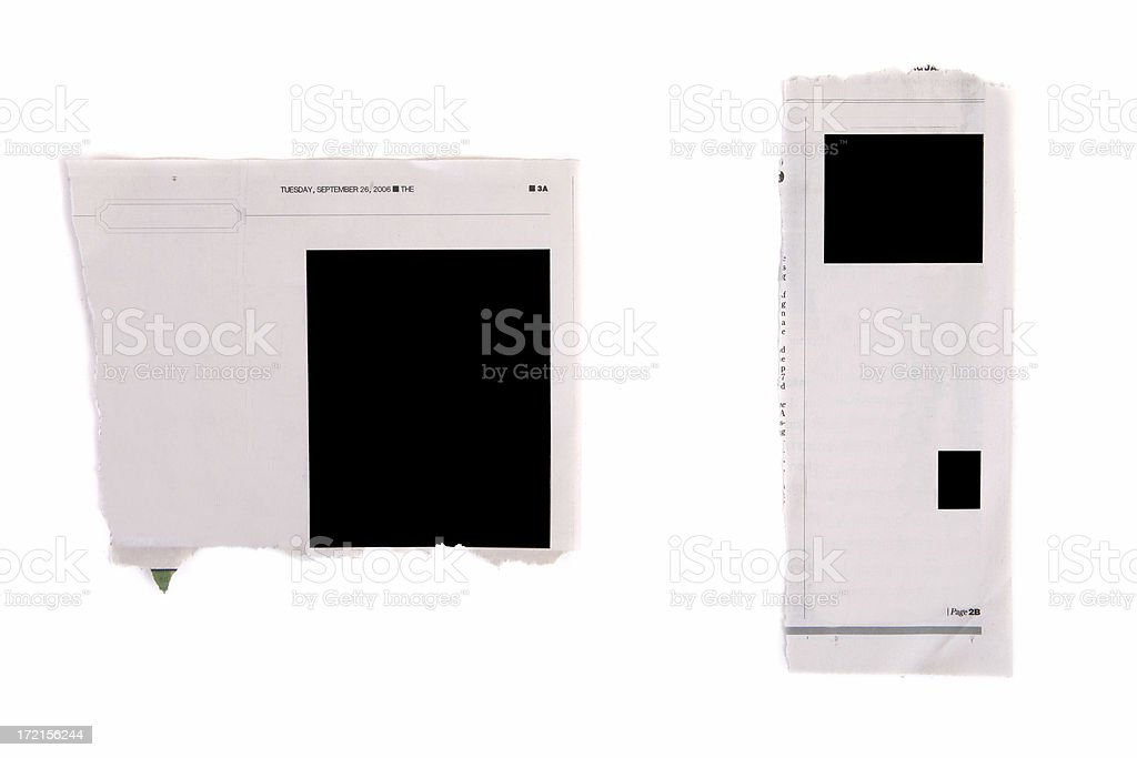News Paper Clippings royalty-free stock photo