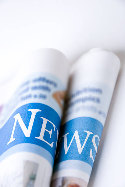 news  newspaper cutouts of bad news headlines stock pictures, royalty-free photos & images