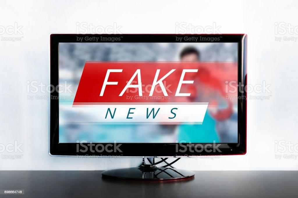 News report with false news. stock photo