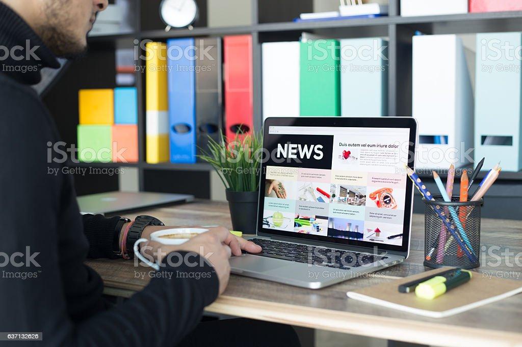 News Screen stock photo
