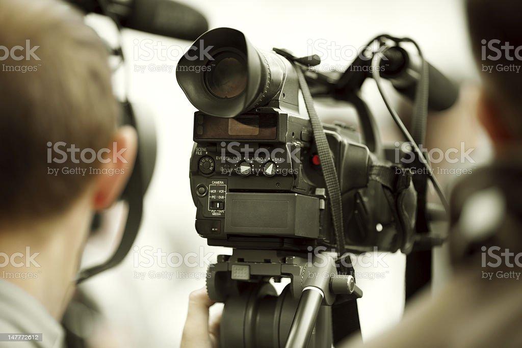 news shooting royalty-free stock photo