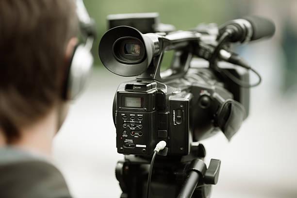 news shooting stock photo