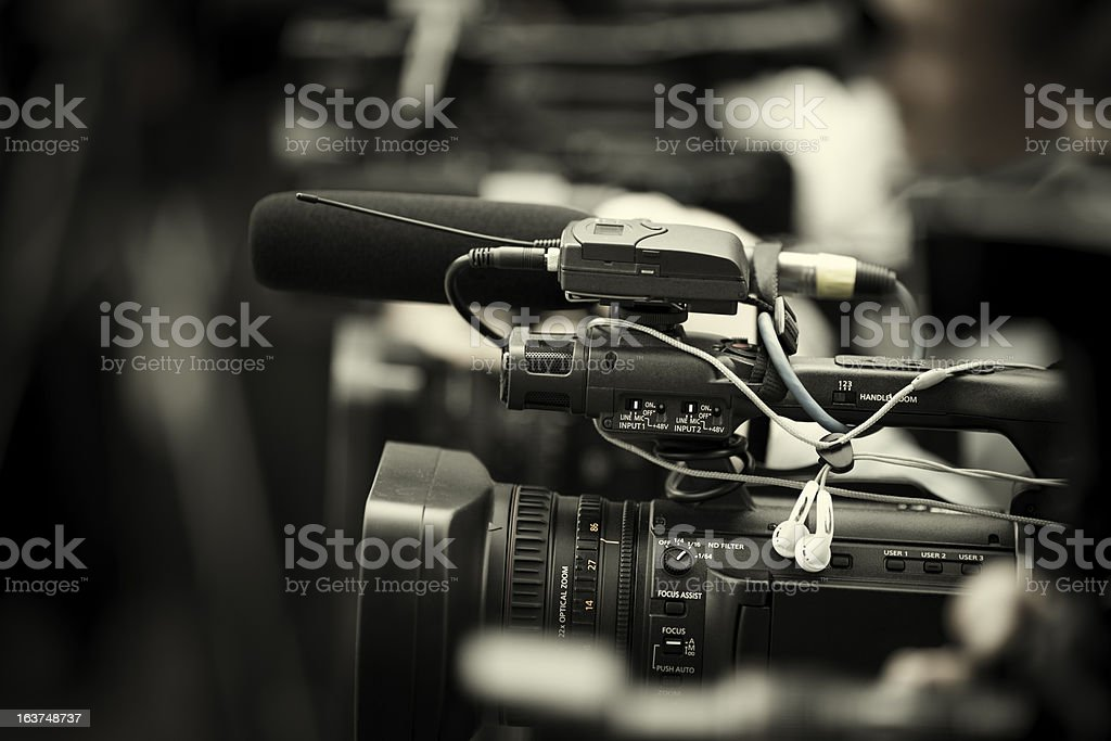 news shooting royalty-free stock photo