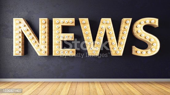 1132886484 istock photo News Sign on Wall 1220321407